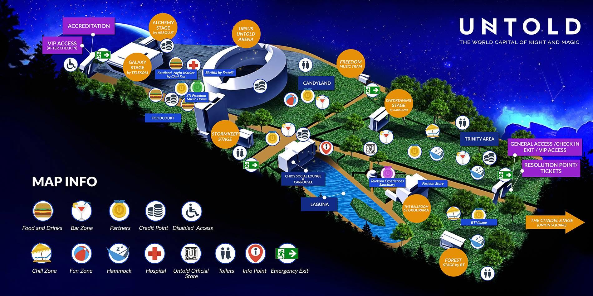 untold festival 2016 map